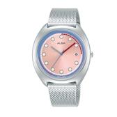 ALBA雅柏 東京霓虹系列米蘭帶女錶 VJ32-X304P (AG8K45X1) 銀