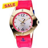 Juicy Couture 海軍水手時尚腕錶-銀/桃紅 J1900999