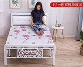 加固折疊床鐵床木板床午休單人床出租房簡易雙人床家用成人經濟型『向日葵生活館』