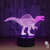 棘背龍3D燈小夜燈智能家居臺燈節能led燈1103【韓衣舍】
