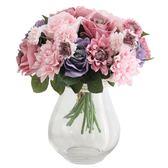 仿真玫瑰花束歐式高客廳臥室辦公桌裝飾