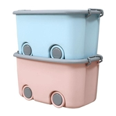 大號兒童收納箱塑料玩具衣服整理箱收納盒箱子帶滑輪儲物箱有蓋WY【免運】