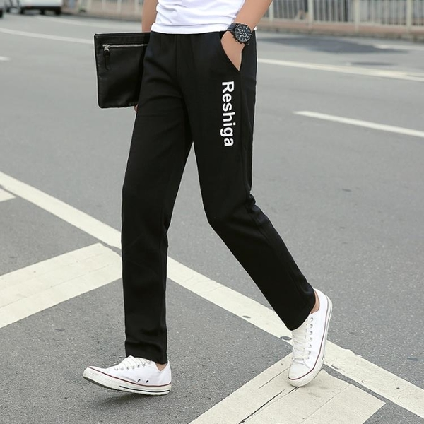 春夏季男款百搭薄款運動褲男長褲學生寬鬆