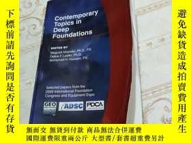 二手書博民逛書店CONTEMPORARY罕見TOPICS IN DEEP FOUNDATIONS Y396820 ISBN