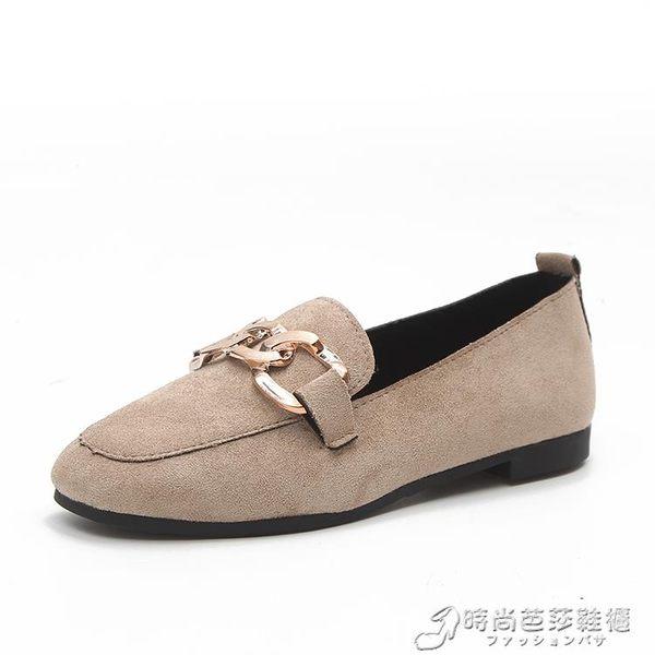 平底鞋子女新款春季一腳蹬懶人鞋韓版百搭單鞋社會女鞋豆豆鞋 時尚芭莎