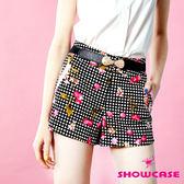 【SHOWCASE】櫻桃格紋短褲(黑)
