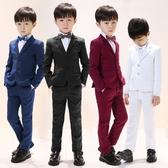 兒童小西裝套裝男童西服三件套花童禮服小孩主持人鋼琴演出服春秋 交換禮物