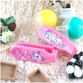 【Disney】可愛彩繪舒適折疊梳 /梳子/隨身梳-瑪麗貓