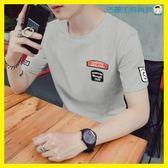 男士韓版短袖t恤學生寬鬆打底衫洛麗的雜貨鋪