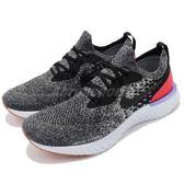 Nike 慢跑鞋 Epic React Flyknit 黑 紅 雪花 發泡材質中底 緩震回彈舒適 男鞋 運動鞋【PUMP306】 AQ0067-006