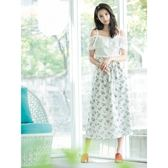 單一優惠價[H2O]蕾絲剪接印花布假兩件式可兩穿洋裝 - 白底花色/粉底花色 #8674008