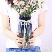 歐式簡約水培玻璃花瓶透明玫瑰百合康乃馨滿天星乾花插花瓶擺件igo   電購3C