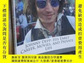 二手書博民逛書店Johnny罕見Depp: His Early Career, Movies, and Private Life