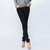 Victoria  中高腰鑲?黑色小直筒褲-黑-VW230988