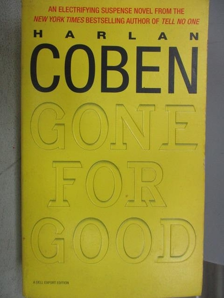 【書寶二手書T3/原文小說_MKB】Gone For Good_Harlan Coben