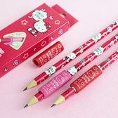 Hello Kitty學前握筆器+木鉛筆 3入組 握筆矯正器 握筆器 鉛筆 橡皮擦