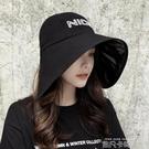 夏季漁夫帽子女韓版潮百搭日系太陽帽時尚防紫外線遮臉遮陽防曬帽 依凡卡時尚