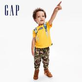 Gap男幼童 工裝風格迷彩鬆緊束口休閒褲 618464-綠色迷彩