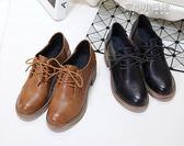 皮靴 小短靴女鞋高跟靴子百搭韓版chic馬丁靴粗跟小皮鞋 育心小賣鋪