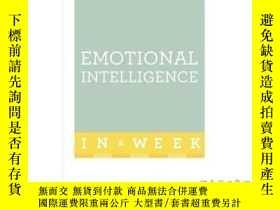 二手書博民逛書店Emotional罕見Intelligence in a Week: Teach Yo...-一周情商:教你。。。