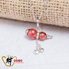 愛戀葫蘆項鍊-姻緣紅(925純銀)《含開光》財神小舖【MS-1004-3】除厄納福