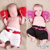 童裝 嬰兒 攝影 寫真 彌月禮 小小拳擊手 手工 針織
