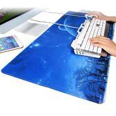 游戲超大大號滑鼠墊鎖邊可愛動漫小號加厚筆電電腦辦公桌墊鍵盤