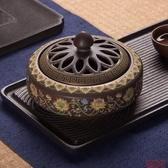 香爐 迦印堂盤香線陶瓷家用禪意室內供佛擺件平底 - 618熱銷