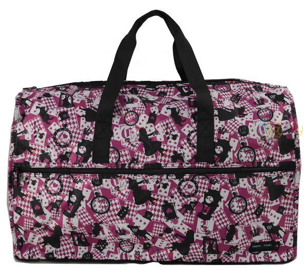 HAPI+TAS 摺疊大旅行袋 - 新版粉色愛麗絲