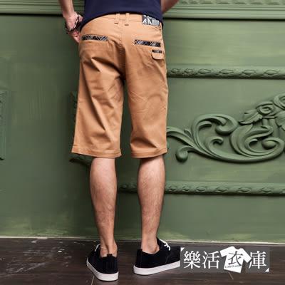 【5632】英倫美型格紋休閒伸縮短褲(共二色)● 樂活衣庫