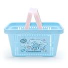 小禮堂 大耳狗 塑膠手提置物籃 購物提籃 浴室收納籃 瓶罐架 (藍粉 甜點) 4550337-73896