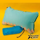 【PolarStar】花漾自動充氣枕 充氣枕頭靠枕護頸枕午睡枕旅行枕飛機枕靠腰枕- P17737 『水藍』