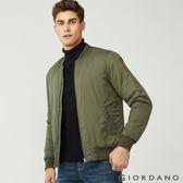 【GIORDANO】男裝MA1鋪棉飛行外套/夾克-50 葡萄葉綠