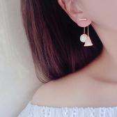 耳環 幾何 珠珠 後掛式 鑲鑽 耳環【DD1606077】 icoca  04/20