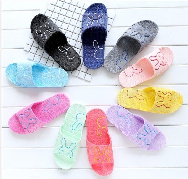 88柑仔店~1155拖鞋女夏天居家浴室涼拖鞋防滑兔子托鞋男室內情侶塑料家居鞋