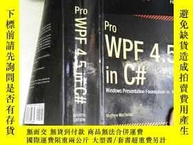 二手書博民逛書店Pro罕見WPF 4.5 in C#:Windows Presentation Foundation in .NE