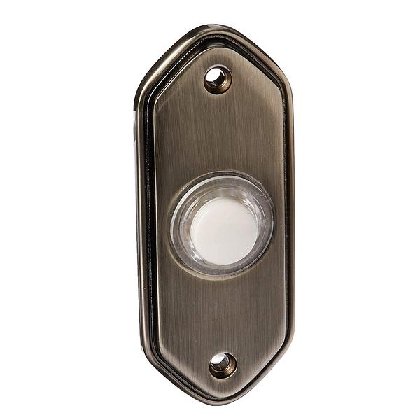 [2美國直購] Honeywell Home 門鈴擋片 RPW213A1006/A Door Chime, Wired, Push, Lit, Brushed Nickel