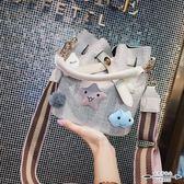 水桶包 上新女夏天潮韓版百搭斜背寬肩帶手提小清新- 歐美韓