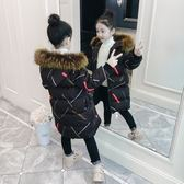 雙十二狂歡 女童棉衣2018新款潮童裝冬裝加厚外套女孩洋氣毛領棉襖兒童棉服 挪威森林