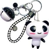 卡通情侶汽車鑰匙扣女韓國創意鈴鐺小掛件可愛包包鑰匙圈環鍊禮品(快出)