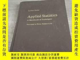 二手書博民逛書店英文版罕見應用統計學手冊 Applied Statistics
