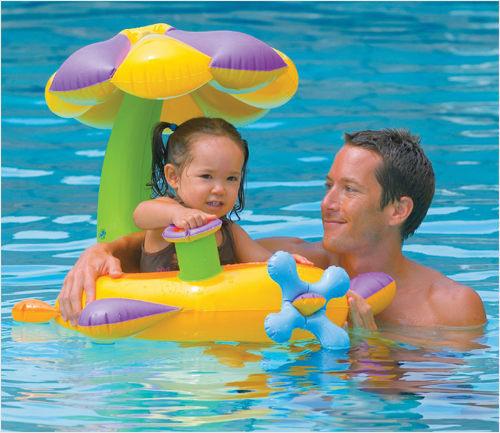 [衣林時尚] INTEX BABY花遮陽泳圈 建議1-2歲 (底褲型)56580 +專用打氣筒