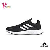 adidas運動鞋 adidas童鞋 鞋帶童鞋 慢跑鞋 跑步鞋 透氣運動鞋 男童跑鞋 DURAMO S9363#黑白◆OSOME奧森鞋業
