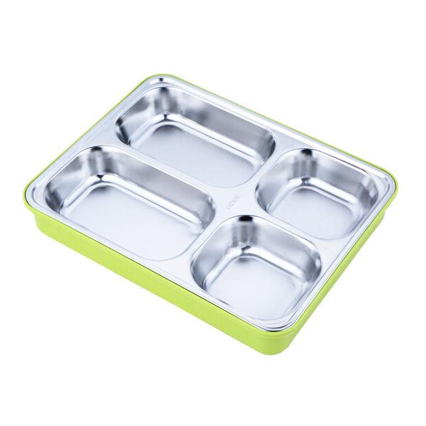 PUSH! 餐具用品304不銹鋼保溫飯盒便當盒防燙餐盤盒(學生成人款)E74一入