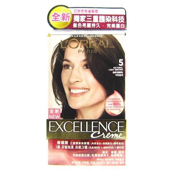 巴黎萊雅 L Oreal 新版優媚霜三重護髮染髮霜 #5 自然淺棕色(148ml)