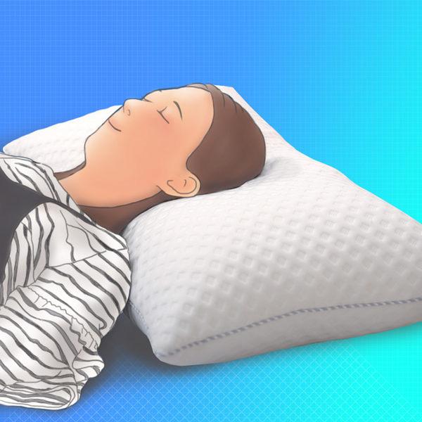 《Dr.Air透氣專家》3D動態釋壓 舒眠枕 X型軟棉 柔軟兼具彈性 頸椎支撐(偏軟枕)