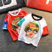 男童短袖t恤小童正韓人頭短袖新款兒童潮2018時尚夏裝【熱門交換禮物】