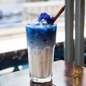 玻璃冰茶杯咖啡杯北歐 氣泡水杯雞尾酒杯冷飲果汁杯【雲木雜貨】