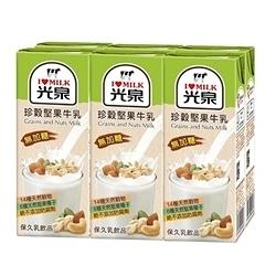 【免運直送】光泉珍穀堅果牛乳200ml*2箱