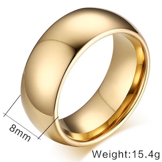 《 QBOX 》FASHION 飾品【RTCR-001】精緻個性簡約素面光滑面鎢鋼戒指/戒環
